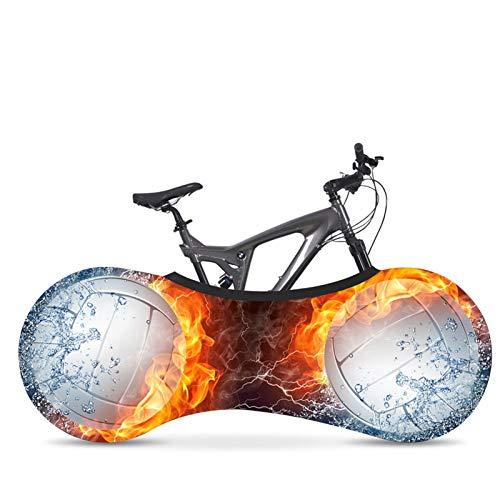 AGQH Cubierta para Bicicletas Interior de Almacenamiento, Universal MTB Carretera Funda Protectora para Bicicletas Bolsa de Almacenamiento Mantiene limpios los Suelos y Las Paredes de su casa