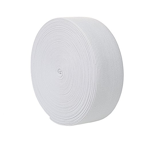 uproll Elastic Bands Spool for Sewing (White, 1.5 Inch)