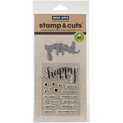 Hero Arts DC150 Stamp & Cut, Happy