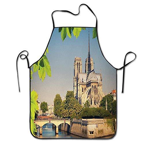 Tablier de Construction européenne médiévale de Notre Dame de Paris Architecture Historique Patrimoine pour Cuisine Barbecue Barbecue Cuisine Chef Cadeau pour Femmes/Hommes