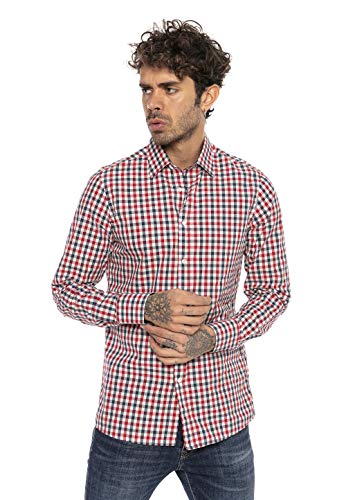 Red Bridge herenhemd casual plaid shirts modern fit lange mouwen geruit
