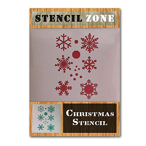 Sneeuw Flake Kerstavond venster nep sneeuw Mylar patroon sjabloon A4