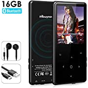 MP3 Player with Bluetooth, Mbuynow 16GB Lossless Sound Music Player 2.4 Inch Screen with FM Radio Voice Recorder Touch Button E-Book Reader Support Up to 128GB TF Card (Black)