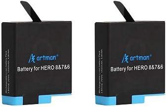 Artman Hero 8/7/6 1500mAh Replacement Batteries(2-Pack) Compatible with GoPro Hero 8 Black, GoPro Hero 7 Black, GoPro Hero 6 Black (Fully Compatible with Original)