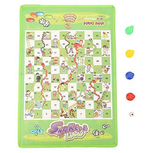 Snakes And Ladders - Juego de mesa infantil educativo, juego interactivo, juguetes para niños y adultos, portátil, volante a ajedrez, juguete configurado y plegable