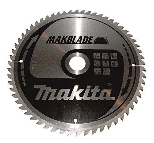 Makita Lama per Sega MAKBLADE per Troncatrice (260 x 30 mm, 60 denti con 5 °) B-32801