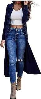 Women's Autumn Winter Fashion Loose Lapel Knit Long...