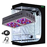 VIPARSPECTRA UL Certified 300W LED Grow Light with 4'x2' Mylar Hydroponic Grow Tent Complete Kit for Indoor Plant Growing