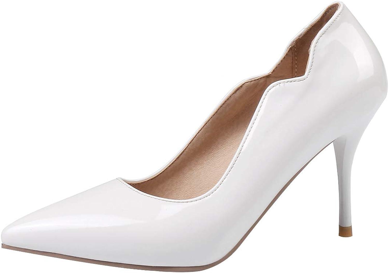 Comfity Womens Compla High Heels Slip-on Pumps