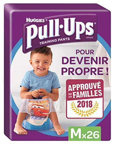Huggies Pull-Ups Garçon Taille 5/Medium (11-18 kg), Couche-Culotte d'Apprentissage de la Propreté Disney Cars ( paquete de 26 culottes)