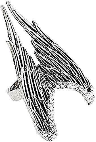 Inception Pro Infinite Anillo Ali – Ajustable – Alato – Mujer – Ángel – Hombre – Punk – Steampunk – Rock – Gótico – Color plata – Idea de regalo