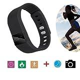 Elegiant Smartwatch/intelligente Armbanduhr mit Bluetooth, Schrittzähler, Aktivitäts-Tracker, OLED-Display
