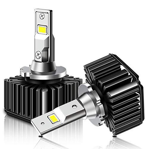 TECTICO D3S Bombillas LED para faros delanteros 50W 6000K Diamante blanco Efecto xenón Haz alto/haz bajo Kit de repuesto HID de faros delanteros de coche (2 Lamparas)