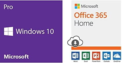 Microsoft Windows 10 Pro 32 Bit System Builder OEM | PC Disc + Microsoft Office 365 Home | 12-month subscription, up to 6 people, PC/Mac Download Bundle