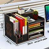 Ecent Büro Organisator Schreibtisch Organizer Holz DIY + Serviettenbox + Stifthalter...