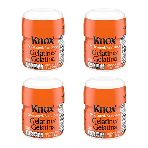 Knox Unflavored Gelatin Mix (Bulk) Container, 16 OZ ( Pack of 4 )