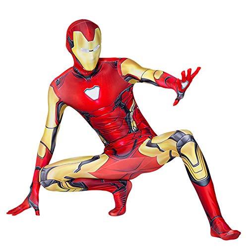 MODRYER Costume Iron Man Avengers Spider-man Cosplay Combinaison de super-héros pour adultes et enfants