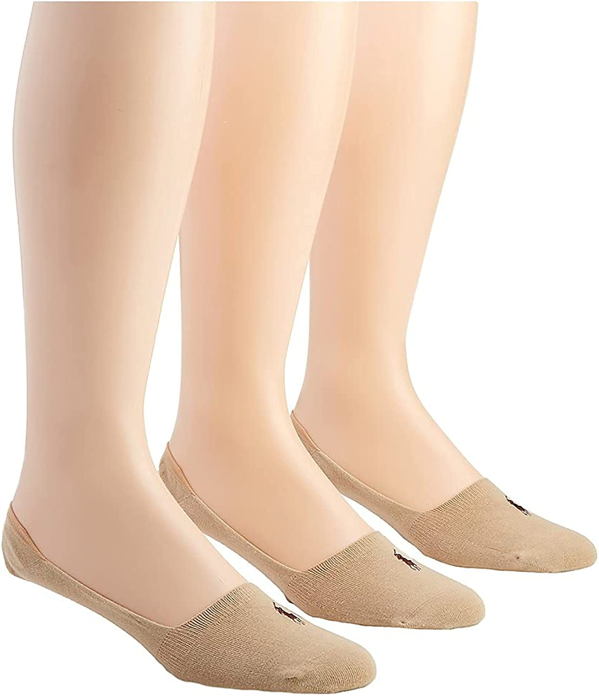 Polo Ralph Lauren No Show Casual Liner Socks - 3 Pack (8316PK)