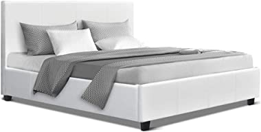 Artiss Queen Size Leather Upholstery Bed Frame, White