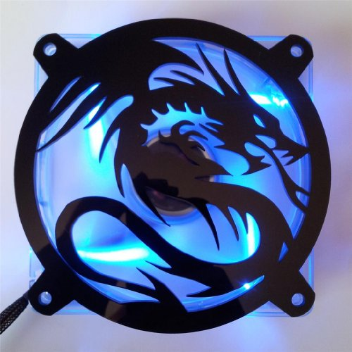 Custom Acrylic Flying Dragon Computer Fan Grill 120mm