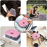 Deer Platz Medikament Tasche, Tragbare Mini Erste-Hilfe Sets, Leer Reiseapotheke Tasche, für Outdoor Sports Home Camping Wandern (Pink + Gray) - 8