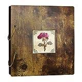 Fotoalbum, getrocknete Blumen, 10 x 15 cm, aus Holz, für 200 Fotos
