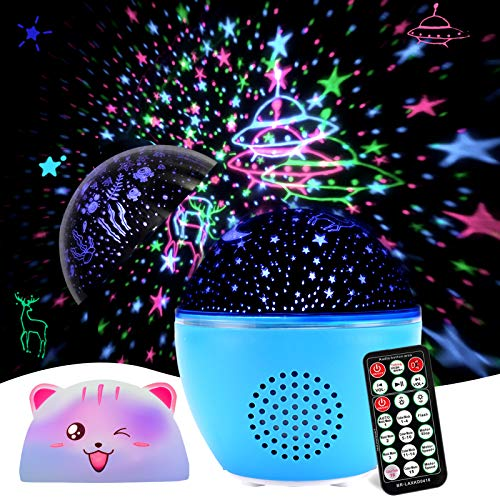 Christmas Gifts for Kids Planetarium Projector Star Projector Cute Nursery Night Light with Music Bluetooth Timer Remote Constellation Lamp Star Ceiling Universe Projector with 20 Set of Films