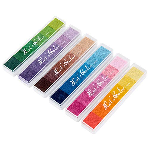 Vordas Stempelkissen Fingerabdrücke, 36 Farben Stempelkissen Set für Papier Handwerk, Kinder Geburtstag Geschenk