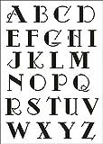 UMR-Design W-640 Font Advert Wand / Textilschablone Grösse A3