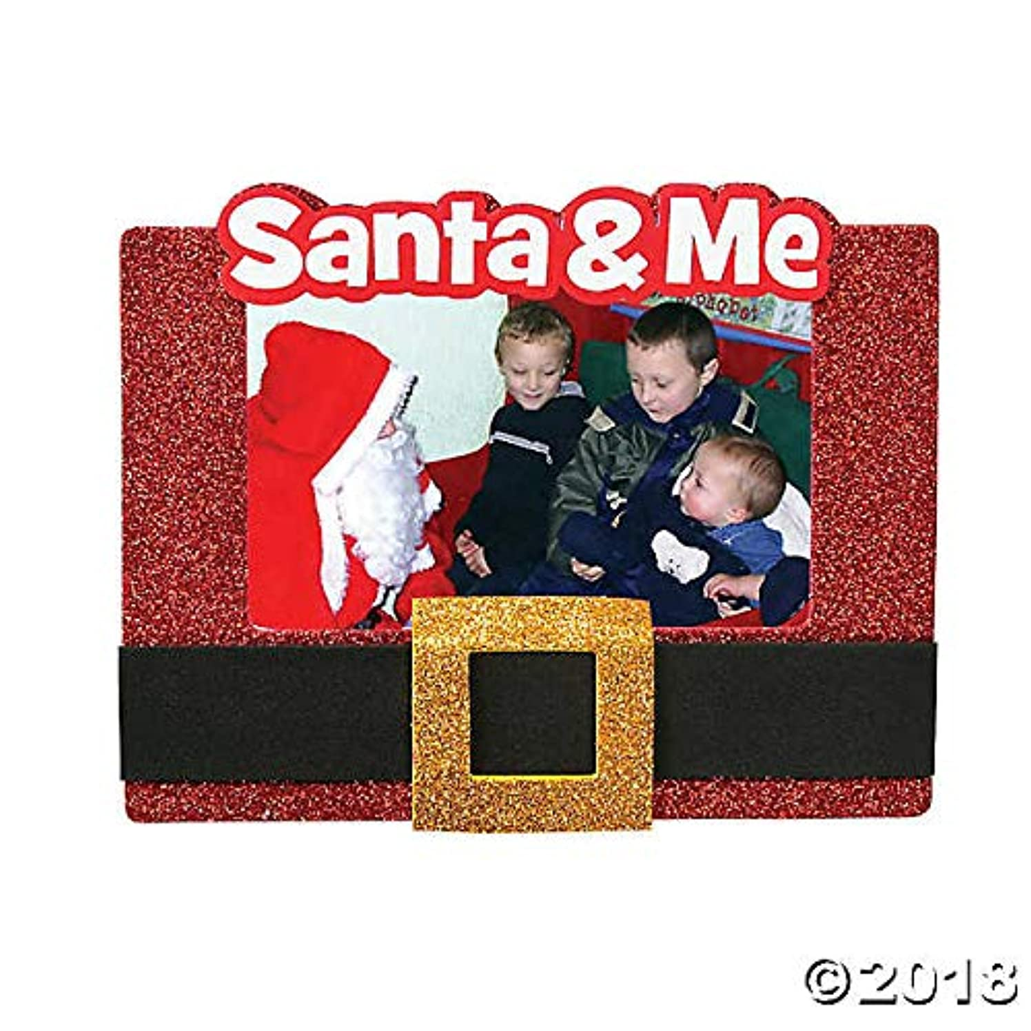 Christmas Picture Frame Magnet Craft Kit-Santa Belt-Makes 12