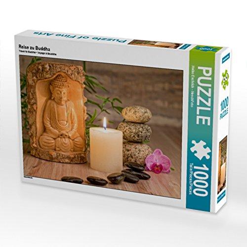 CALVENDO Puzzle Reise zu Buddha 1000 Teile Lege-Größe 64 x 48 cm Foto-Puzzle Bild von HeschFoto