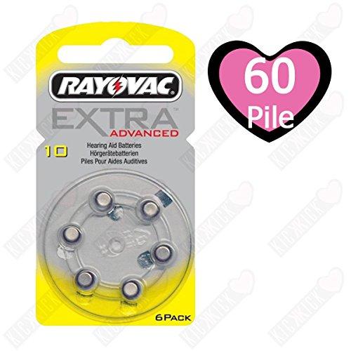 Rayovac Extra HA10, PR70, 4610 Hörgeräte Batterie 60-Pack