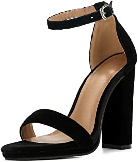 Womens Block High Heel Sandals Ankle Strap Chunky Open Toe Pumps Dress Party Shoes 033