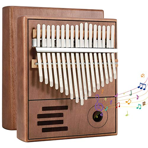 Bearbro Kalimba 17 Tasti Finger Piano,Professionale finger piano con Strumento Musicale e martello, portatile, in legno africano, per bambini, adulti e principianti
