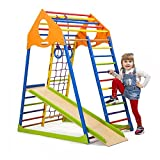 Kinder Aktivitätsspielzeug Kletterturm mit Rutsche KindwoodColor Spielcenter Spielplatz
