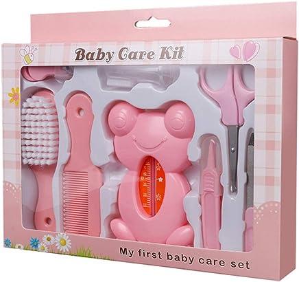 Asien Lote 8 Unidades Bebé Recién Nacido Cabello Cuidado de la Salud Termómetro Corporal Kit de Aseo Conjunto Rosa