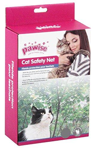 PAWISE Schutznetz Katzenschutznetz Katzennetz Balkonnetz transparent 2 x 1,5 Meter