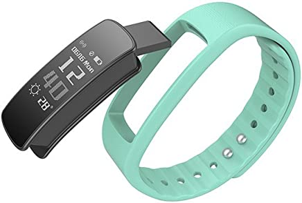 Blluetooth Watch Smart Bracelet Pedometer Smart Fitness Band Wristband (Green)