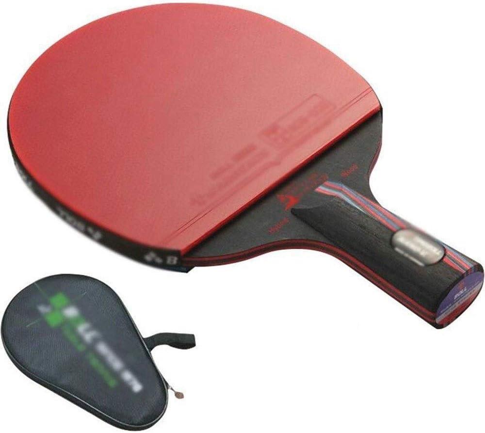 KDKDA Ping Pong Paddle 1 Pack Premium Raqueta de Tenis de Mesa Set 1pcs Bolsa de Raqueta y 2 Película Protectora
