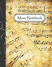 Music Notebook: Manuscript Music Notation Paper - Blank Staff Paper - 12 Stave - Standard Notebook for Musicians, Composition, Songwriting
