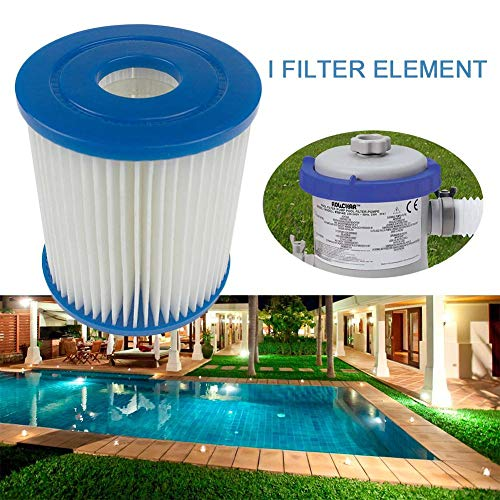 ZGHYBD 2pcs Inflatable Swimming Pool Filter,Easy Set Filter Cartridge Replacement,Easy Installation Efficient Filter, For Tube Pool Cleaning,For Hot Tubs Swimming Pools SPA