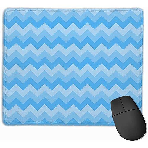 Blue Stripes Gaming Mouse Pad Schwarzes Tuch Rechteck Mousepad Mouse Mat Mit genähten Kanten