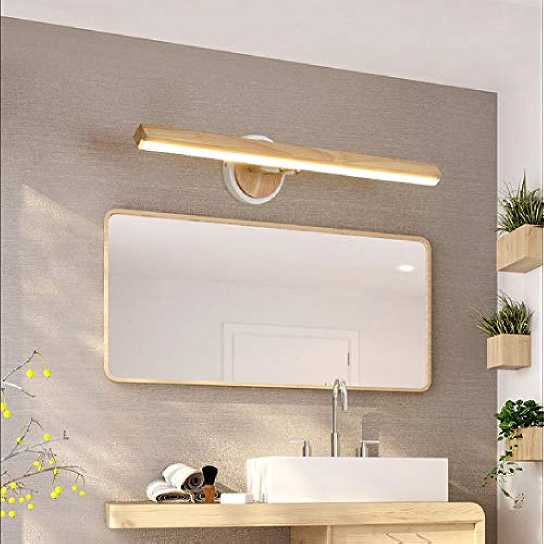 YHSGD Log Badezimmer Wandleuchte LED zweifarbig verstellbar Moderne minimalistische Make-up Licht für Schminktisch Waschbecken Wandbeleuchtung
