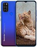 Moviles Libres, Blackview A70 Smartphone 4G de Pantalla 6.5' Water-Drop Screen, Teléfono 3GB + 32GB (SD 128GB), 13MP + 5MP, Batería 5380mAh Teléfono Móvil, Android 11, Face ID/GPS-Azul