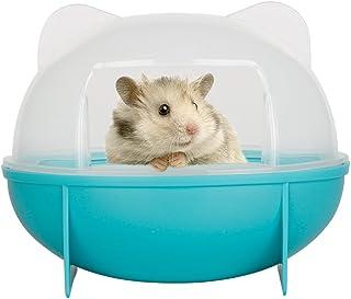 【Momugs Akira】ハムスタートイレ ハムスターハウス バスルーム ラスチックケージ お風呂 トイレ砂の部屋 全3色 シャベル付き ブルー