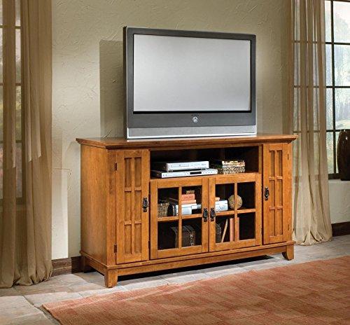 Big Sale Best Cheap Deals Home Style 5180-10 Arts and Crafts Entertainment Credenza, Cottage Oak Finish