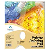 Bellofy Palette Painting Pad – Disposable 50 Sheets - 9x12 inches, 24lb / 65GSM - Perfect for Mixing Acrylic Paint, Oils, Watercolors, Caseins - Paint Mixing Palette, Oil Paint Mixing