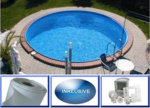 Summer Fun Stahlwandbecken Set Java Exklusiv rund ø 6,00m x 1,50m Folie 0,6mm Spar Set Pool Rundpool / 600 x 150 cm Stahlwandpool