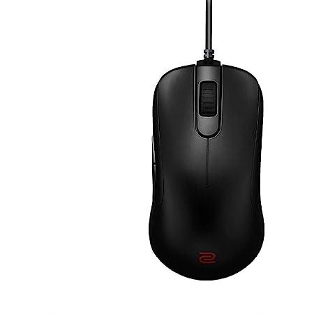 BenQゲーミングマウス ZOWIE S2(ブラック/光学式/USB有線/プラグ&プレイ/4段階DPI/5ボタン/右利き用/82g/Sサイズ)