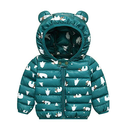 Bebés - Chaqueta de invierno para niñas, abrigo, capucha para niños, ropa para bebé